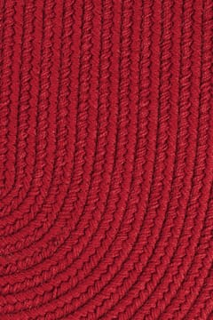 brilliant red color rug