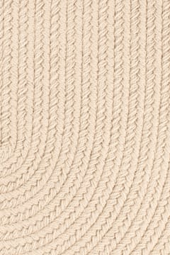 Rhody Pumice Braided Area Rug Solid Color S0 49