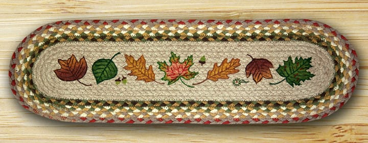 EARTH RUGS Autumn Leaves BRAIDED JUTE Stair Treads ST-OP-24