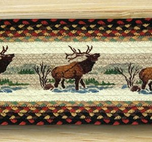 EARTH RUGS Winter Elk BRAIDED JUTE Stair Treads ST-OP-319