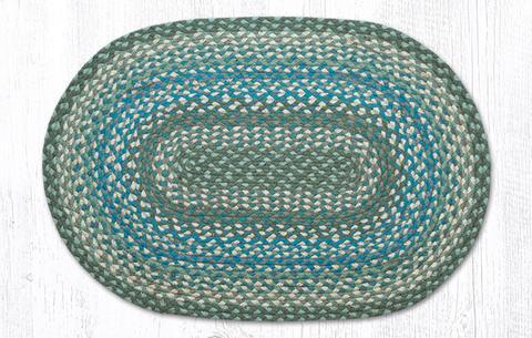 Sage Ivory Settlers Blue Jute Area Rug
