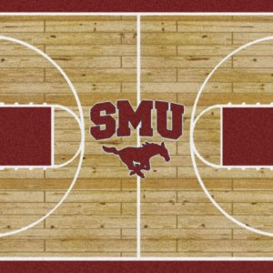 Southern Methodist Mustangs Area Rug