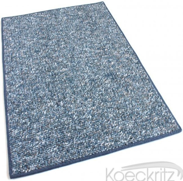Oceanside Baltic Blue Berber Level Loop Indoor-Outdoor Area Rug Carpet