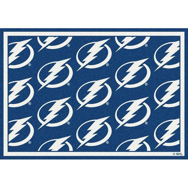 Tampa Bay Lightning Nhl Team Repeat Area Rug