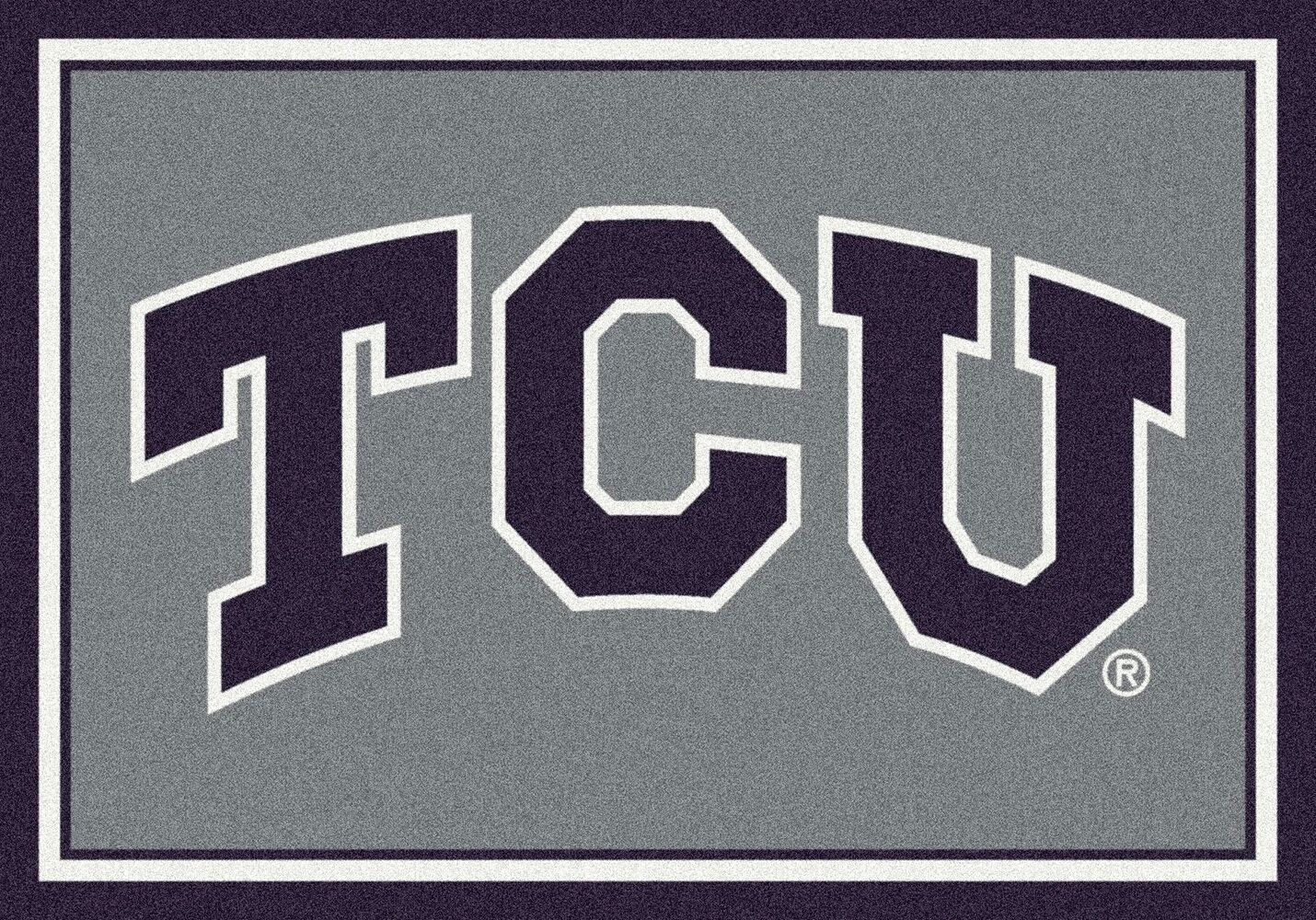 Texas Christian Horned Frogs Area Rug Ncaa Horned Frogs