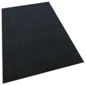 Black Indoor-Outdoor Unbound Carpet Area Rug