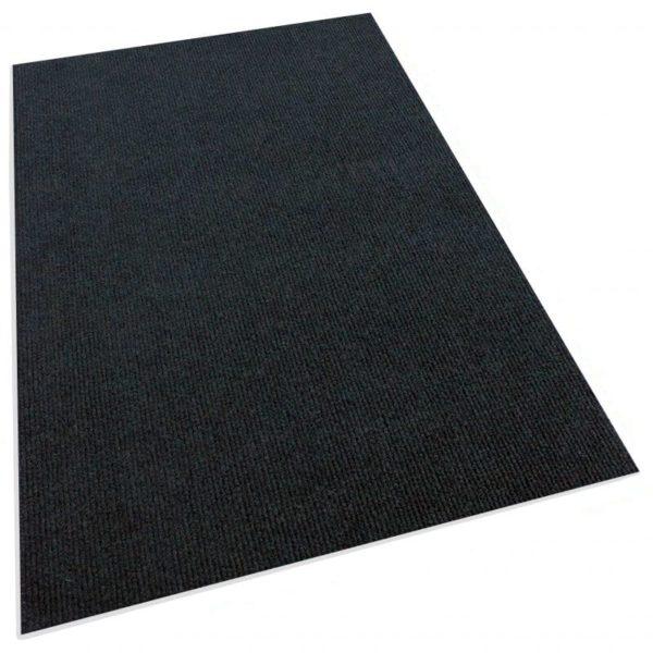 Black Indoor-Outdoor Unbound Carpet Area Rug