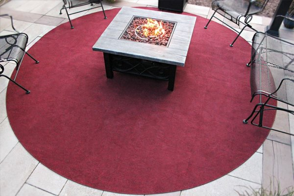 Brick Red indoor outdoor area rug patio