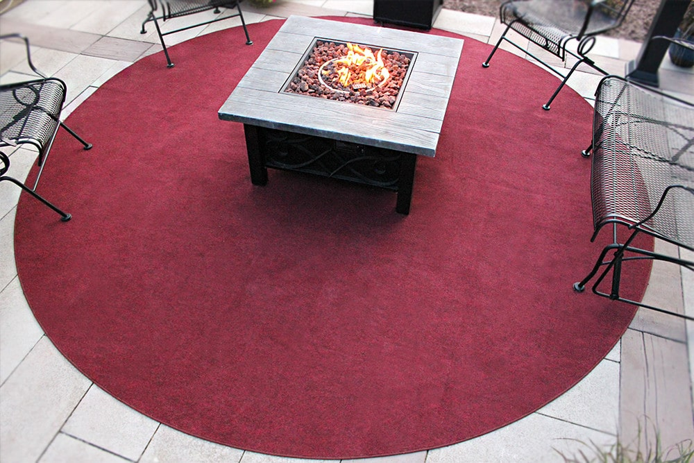 Brick Red Indoor Outdoor Olefin Carpet Area Rug