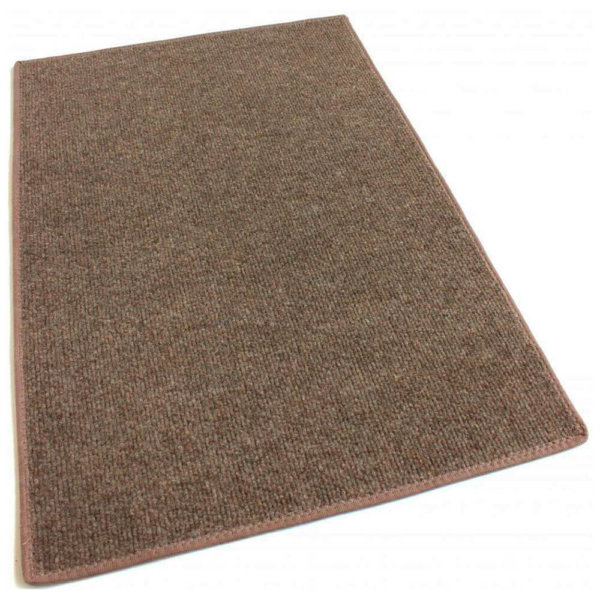 Brown Indoor-Outdoor Unbound Carpet Area Rug