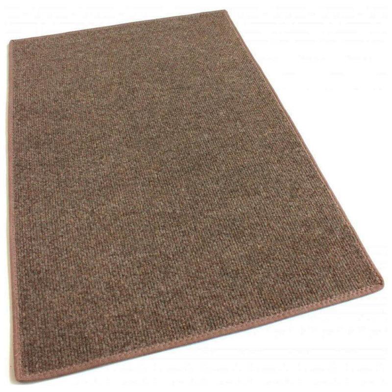 Brown Indoor-Outdoor Unbound Carpet Area Rug