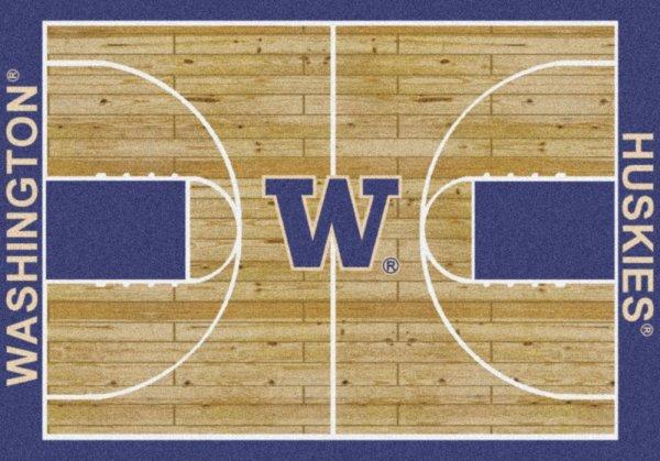 washington huskies area rug