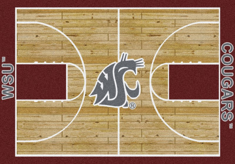 Washington State Cougars Area Rug Ncaa Cougars