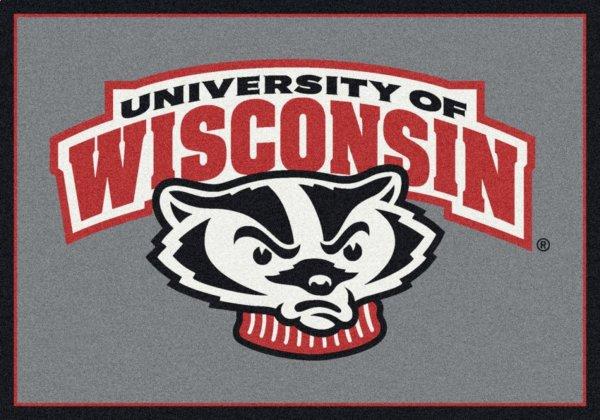 wisconsin badgers area rug