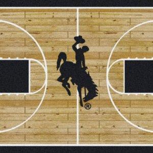 wyoming cowboys area rug