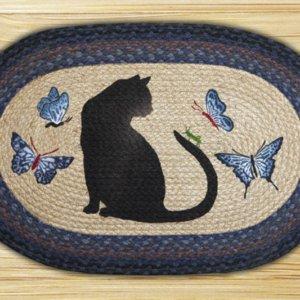 Earth Rugs Cat Grasshopper