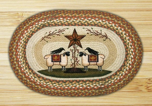 Earth Rugs Sheep And Barn Star