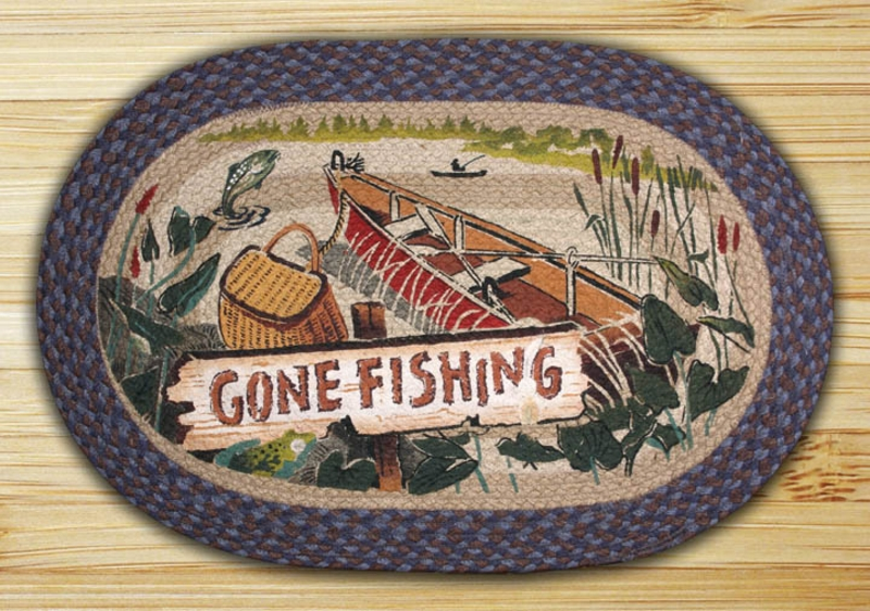 Earth Rugs Gone Fishing