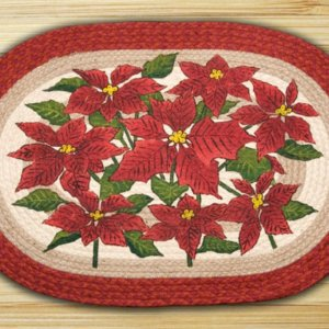 Earth Rugs Poinsettia