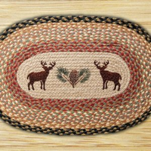 Earth Rugs Deer Pinecone