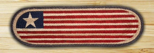 EARTH RUGS Original Flag BRAIDED JUTE Stair Treads