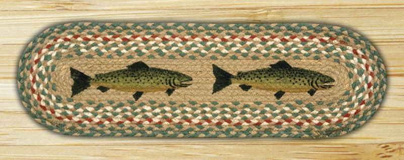 Earth rugs fish braided jute stair treads st op 09 for Fish bath rug