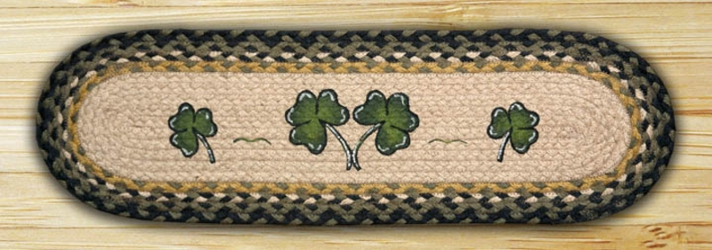 EARTH RUGS Shamrock BRAIDED JUTE Stair Treads ST-OP-116