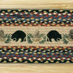 EARTH RUGS Black Bears BRAIDED JUTE Stair Treads ST-OP-43