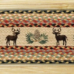EARTH RUGS Deer Pinecone BRAIDED JUTE Stair Treads ST-OP-57