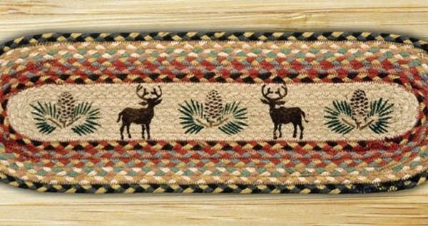 Earth Rugs Deer Pinecone Braided Jute Stair Treads St Op 57