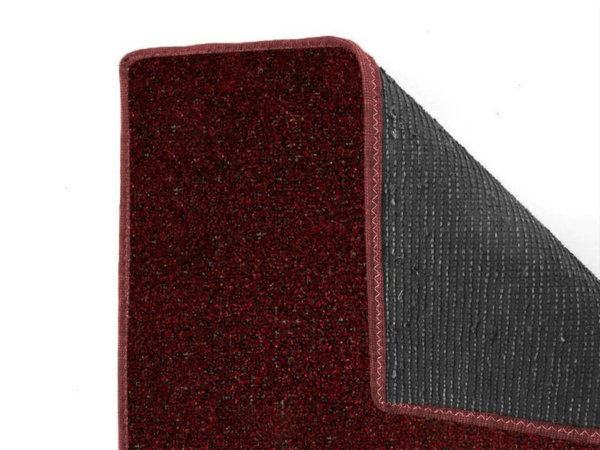 Red Black Economical Artificial Grass Turf - Durable Backing