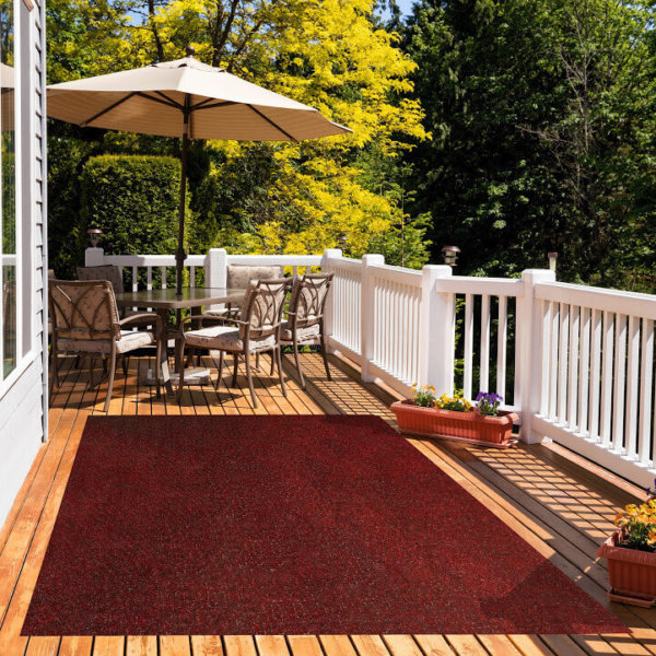 Red Black Economical Artificial Grass Turf - Great accessories for Decks