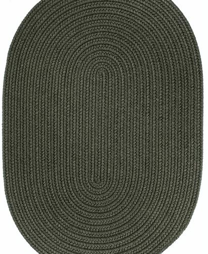 Rhody Dark Sage Braided Area Rug
