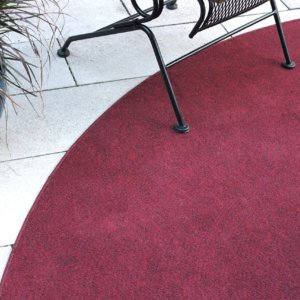 Brick red indoor-outdoor area rug