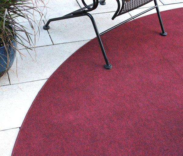 Brick red indoor-outdoor area rug