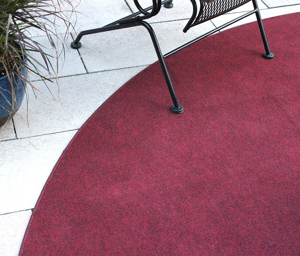 Brick Red Indoor Outdoor Olefin Carpet Area Rug