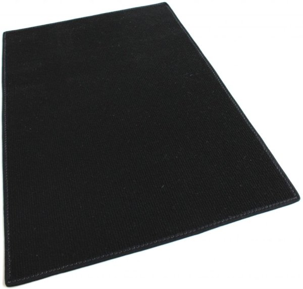 Black Indoor-Outdoor Olefin Carpet Area Rug