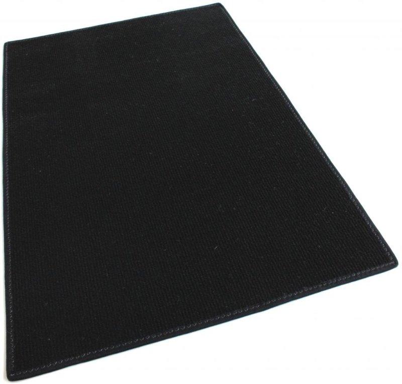 Black Indoor-Outdoor Olefin Carpet Area Rug