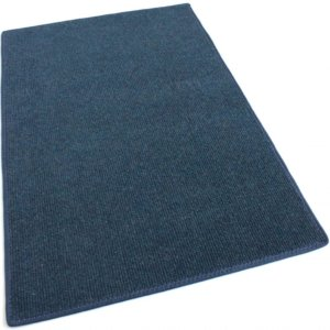 Cadet Blue Indoor-Outdoor Olefin Carpet Area Rug