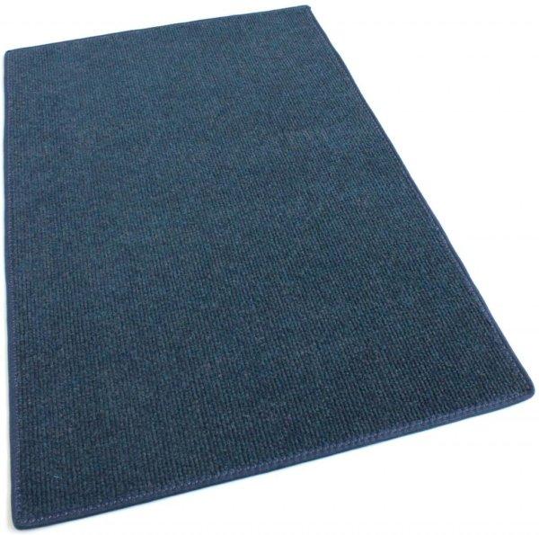 Cadet Blue Indoor-Outdoor Olefin Carpet Area Rug