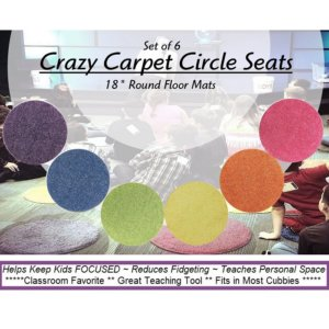Childrens Crazy Carpet Circle Seats - Bright Multi