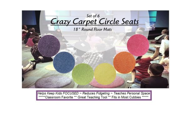 Children's Crazy Carpet Circle Seats - Bright Multi