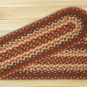 EARTH RUGS Burgundy BRAIDED JUTE Stair Treads C-012