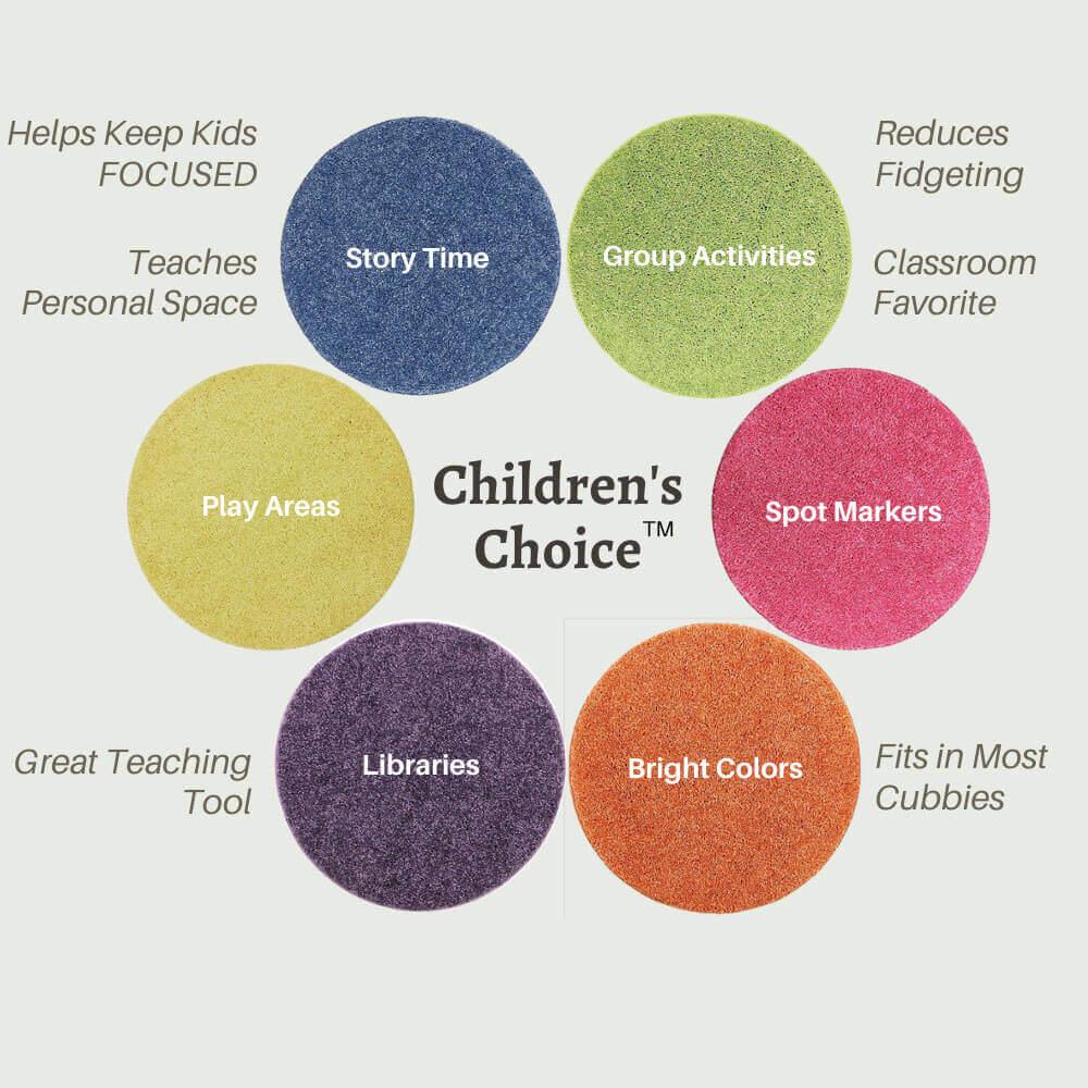 Children's Crazy Carpet Circle Seats - Bright Multi