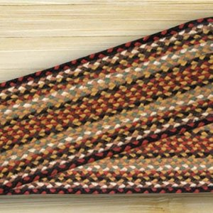 EARTH RUGS Burgundy Mustard Ivory BRAIDED JUTE Stair Treads C-319