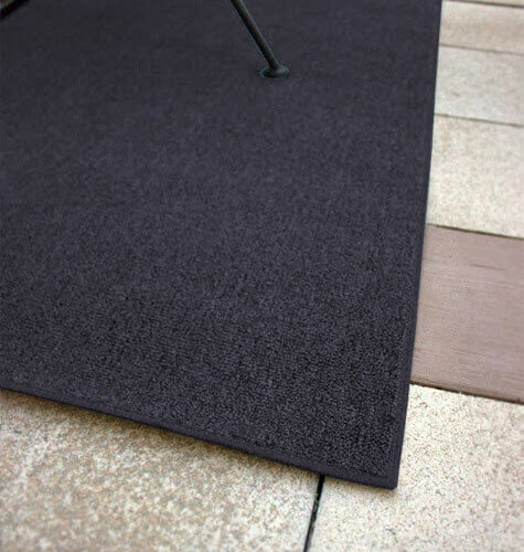 Outside Agenda Batik Blue Level Loop Indoor-Outdoor Area Rug Carpet - Room