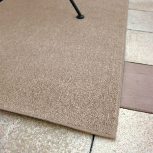 Outside Agenda Burlap Level Loop Indoor-Outdoor Area Rug Carpet - Room