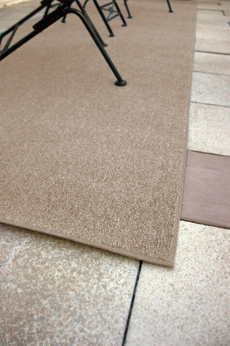 Outside Agenda Burlap Level Loop Indoor-Outdoor Area Rug Carpet - Room