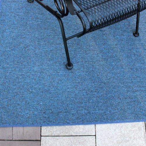 Cobalt Outdoor Rug Corner