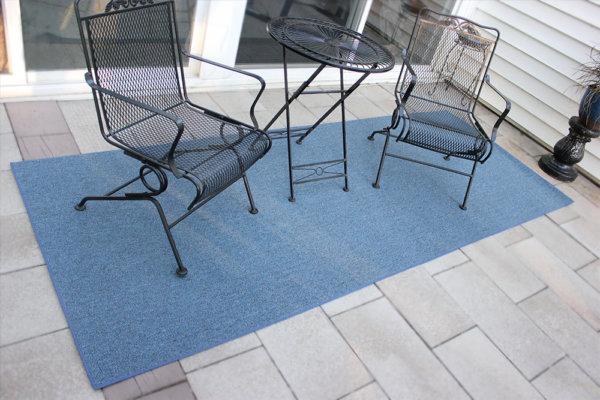 Cobalt Indoor Outdoor area rug room